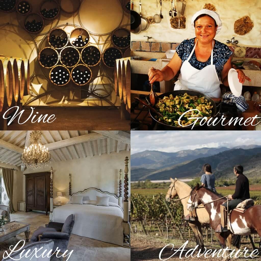 wine gourmet luxury adventure